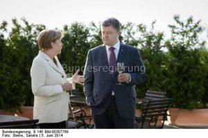 Bisher hatte es Ärger Deutschland und der Ukraine wegen Nord-Stream 2 gegeben. Wird sich der nun in Luft auflösen?Die Kanzlerin und der ukrainische Ministerpräsident Petro Poroschenko.