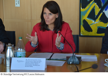...wir müssen dringend umsteuern ...; Parlamentarische Staatssekretärin Rita Schwarzelühr-Sutter