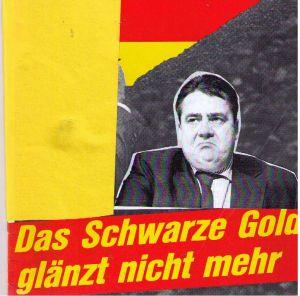Bundeswirtschaftsminister Sigmar Gabriel: Der Minister bleibt dennoch zurückhaltend beim Thema Kohleausstieg;  Bild Cover U&E