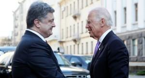 """""""wenn er dann nicht entlassen ist ..."""" US-Vize Joe Biden mit dem vormaligen ukrainischem Staatschef Poroschenko"""