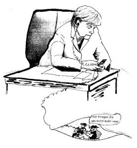 Offen wie ein Scheunentor? ...Karikatur U&E