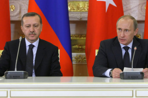 Wir haben gemeinsam große Anstrengzungen unternommen...; Türkischer Ministerpräsident Erdogan und Kreml-Chef Wladimir Putin: . Bild Sputnik news