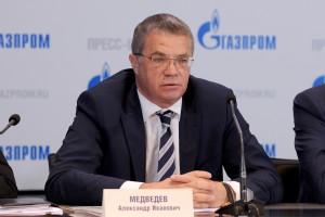 Gazprom-Vizevorstandschef Alexander Medwedew: Nervös wegegn der Verhandlungen mit der EU und möglichen Strafen ...?