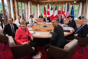 G 7-Sitzung Schloss Elmau:  Hier war man sich in Sachen Dekarbonisierung  einig und auch ...; Bild Bundesregierung Kugler
