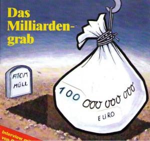 """""""...Die teure Suche nach dem richtigen Grab"""".... Grafik : Titel-Magazin U+E"""