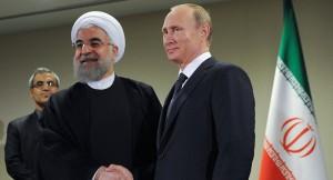 Höchst aufmerksam von Moskau beobachtet ...Irans Präsident Rohani und Kreml-Chef Wladimir Putin ...