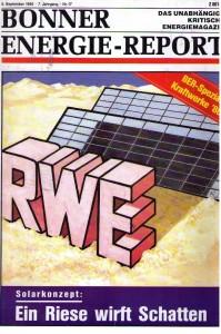 Es hat sehr lange gedauert bis RWE den Weg in eine richtige Zukunft gefunden hat...; U&E- Cover Printausgabe 5.Sept. 1986