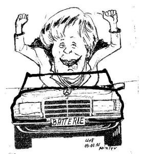 Kanzlerin Angela Merkel: Sie muss nun mitziehen, den Verkehr revolutionieren .... Karik.U&E pointer