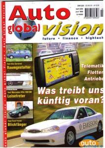Titelbild unseres Magazins: Auto global Vision im Juni 1999. Da wurde noch das gasangetriebene Auto favorisiert ...