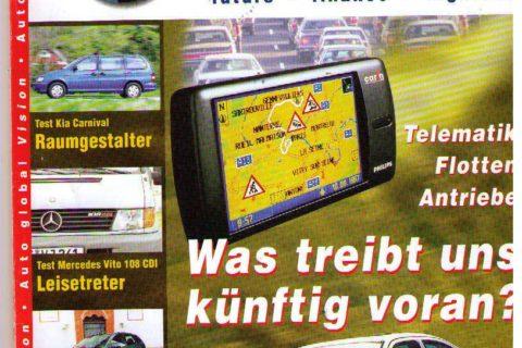 ... sehr erfreuliche Zahlen in puncto Klimaschutz ...;Titelbild unseres Magazins: Auto global Vision im Juni 1999. Da wurde noch das gasangetriebene Auto favorisiert ...Jetzt e-Mobilität... doch wie lange noch die verbrenner ...?