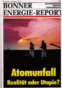 Von 1980 bis 2002 erschien in unserem Verlag dieses Magazinalle, 14 Tage: Bereits am 06. Juni 1983 beschäftigte sich die Titelgeschichte mit den Problemen der Uran-Transporte. Die Redaktion stellte auch im Umfeld von Bonn immer wieder fest wie wenig Kommunen auf soclche Transporte  vorbereitet waren oder überhaupt davon wussten.