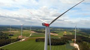 sechs Millionen E-Autos könnten damit ein Vierteljahr lang fahren... ...;Trianel-Windpark Vogelherd, Bayern