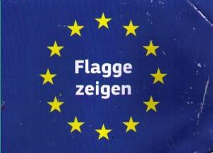 Flagge zeigen will die EU und für saubere Autos sorgen ... ...