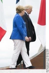 """Kanzlerin Angela Merkel und US - Präsident """"The Donald"""" Trump: Das war beim G 7 Gipfel in Italien. Wohin geht ihr Weg beim  G 20 Gipfel ... auf Konfrontation...?"""