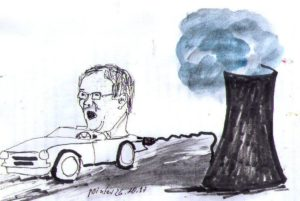 E-Mobilität mit fossiler Energie...? Armin Laschet Vorreiter und Umpulsgeber in Sachen E-Mobilität, mit Strom aus Kohle ... ...; Karik. U u. E