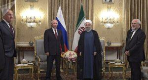 Dann wird überhaupt kein Öl mehr durch die Straße von Hormus transportiert ......? Rouhani und Putin bild Alexej Druschinin
