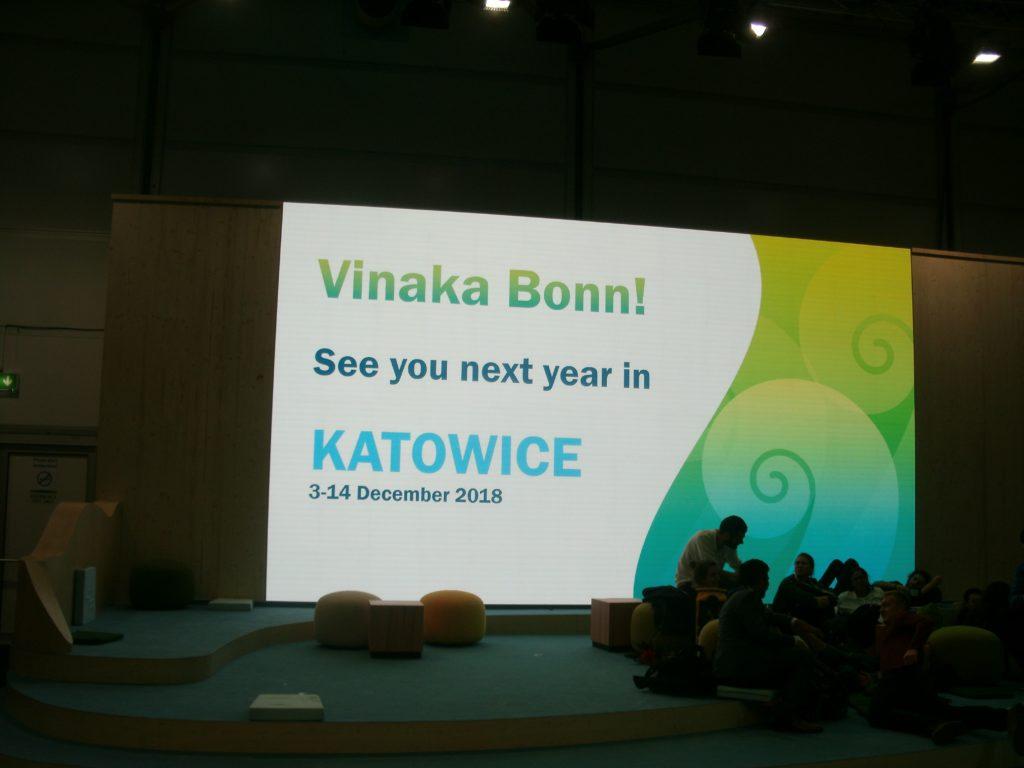 Wir sehen uns im Dezember wieder, mitten im polnischen Kohlerevier Katovice ...und mit hochgesteckten Zielen; Bild Umwelt-Energie-Report