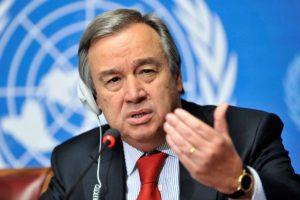"""""""""""...wie der Neustart der Wirtschaft so organisiert werden kann, dass die Weltgemeinschaft krisenfester und klimaverträglicher aus der Pandemie gehen kann."""", .Antonio Guterres, UN-Generalsekretär  ; bild UN"""