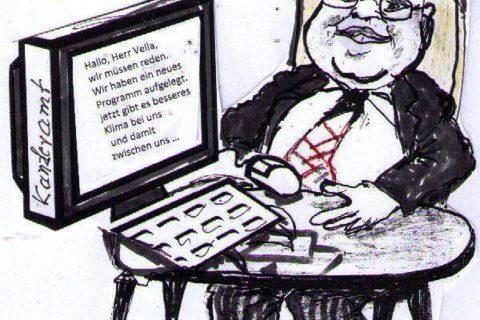 Er setzte sich selbst an den Computer und schrieb an EU-Umweltkommissar Karmenu Vella, Kanzleramtsminister Peter Altmaier
