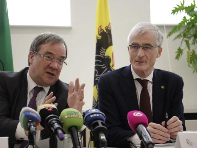 Wir wollten auch über den Pannenmeiler Tihange sprechen ...; Ministerpräsident Armin Laschet(links) mit Flanderns Ministerpräsidenten Geert Bourgois