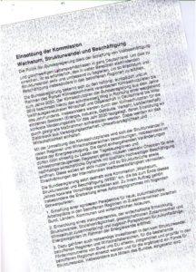 Entwurf zur Satzung der Strukturwandel-Kommission...