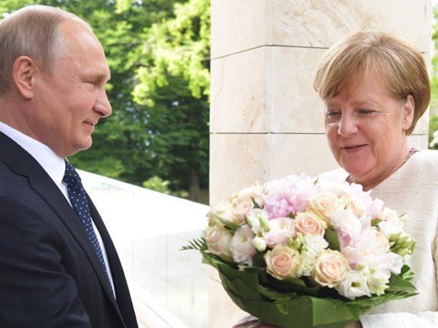 Putin: Weiße Rosen für Merkel … und Einigkeit  beim Gas für Ukraine?!