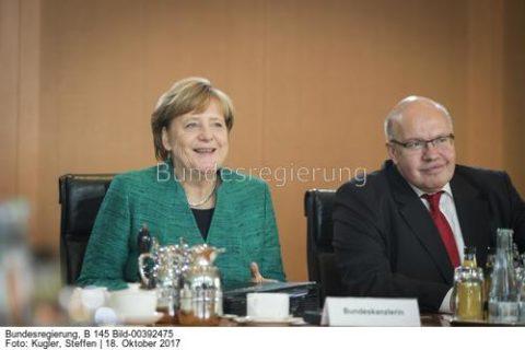 Nun nimmt sie, die Kanzlerin, die Sache mit dem Kohleausstieg in die Hand. .., Kanzlerin Angela Merkel und Wirtschaftsminister Peter Altmaier