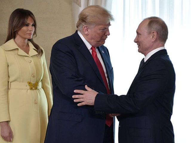 Europa, Deutschland können Gas aus Russland kaufen ...geht doch, so Trump, hier mit Ehefrau Melania und Putin