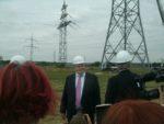 """""""Das ist ein zentraler Fortschritt beim Netzausbau....:..."""" Bundeswirtschaftsminister Peter Altmaier während seiner """"Stromreise"""", der Besichtigung der Stromnetze, hier in der Nähe von Bonn ...; bild U + E"""