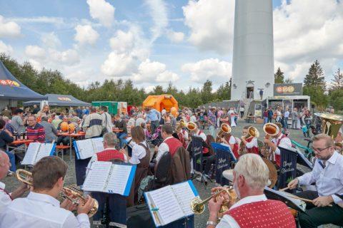 Da wurden noch Feste gefeiert ...; evm-Fest im Windpark Höhn