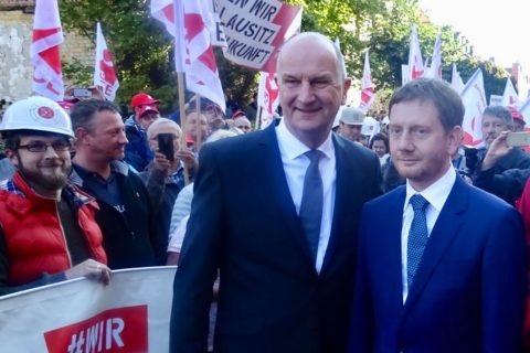 """""""Sie ist für uns wirtschaftlich notwendig...!""""...Dietmar Woidke (SPD) und Sachsens Ministerpräsident Michael Kretschmer (CDU)"""