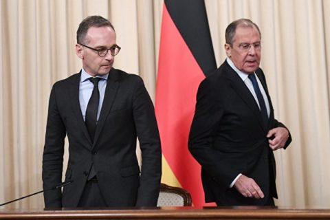 """Nord-Stream 2: """"...wird früher oder später doch zu Ende gebaut.!"""" hier Außenminister Heiko Maas mit seinem russischen Amtskollegen Sergej Lawrow"""