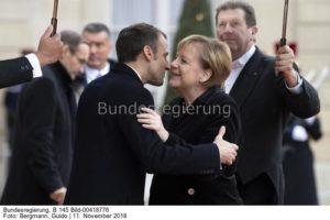 Gemeinsam mit Energie weiter ...; Kanzlerin Angela Merkel und Präsident Emmanuel Macron, bild Guido Bergmann