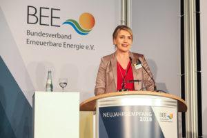 """""""  ...dazu erhebliche Chancen für diverse Wirtschaftsakteure..""""; Simone Peter, bild bee"""
