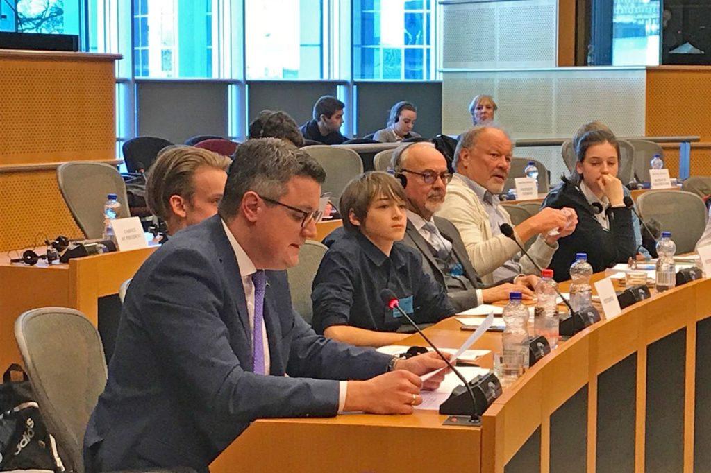 """""""...Ich bin immer noch der festen Überzeugung, dass wir sehr gute Argumente vorgebracht habenStädteregionsrat Dr. Tim Grüttemeier (im Vordergrund) bei seinem Plädoyer vor dem Petitionsausschuss in Brüssel...; bild D. Funken"""