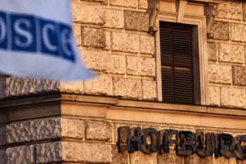 """Für Frieden und Freitheit ...?"""". OSZE in der Wiener Hofburg, Bild Curtis Budden OSCE"""