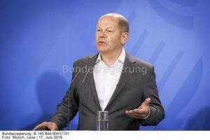 Bundesfinanzminister Olaf Scholz (SPD). drängt darauf die Mehrheit bei Tenet zu übernehmen ...; .Bild Lene Münch