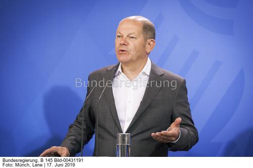Hat er oder hat er nicht...?Bundesfinanzminister Olaf Scholz (SPD). ; .Bild Lene Münch
