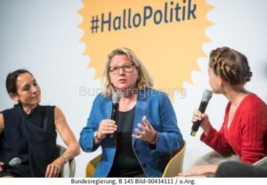 """""""""""Nachhaltiges Wirtschaften und ökonomischer Erfolg sind kein Widerspruch"""" ...; Svenja Schulze, bild bundesrg."""