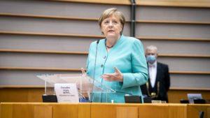 """""""Was wir bisher getan haben, ist schlichtweg nicht genug"""",  'die bittere, aber zutreffende Bilanz von Bundeskanzlerin Angela Merkel...!"""" Angela Merkel , foto guido bergmann"""