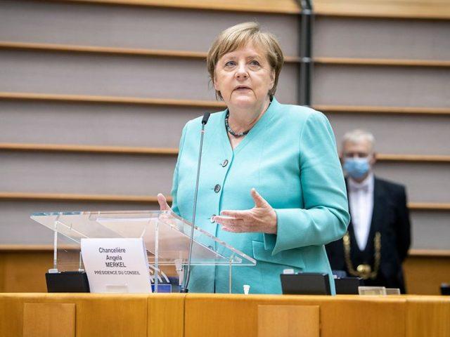 """""""Europa muss Vorreiter beim Klimaschutz sein...!"""" Angela merkel , foto guido bergmann"""